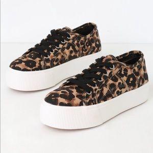 STEVE MADDEN emmi leopard print platform sneakers